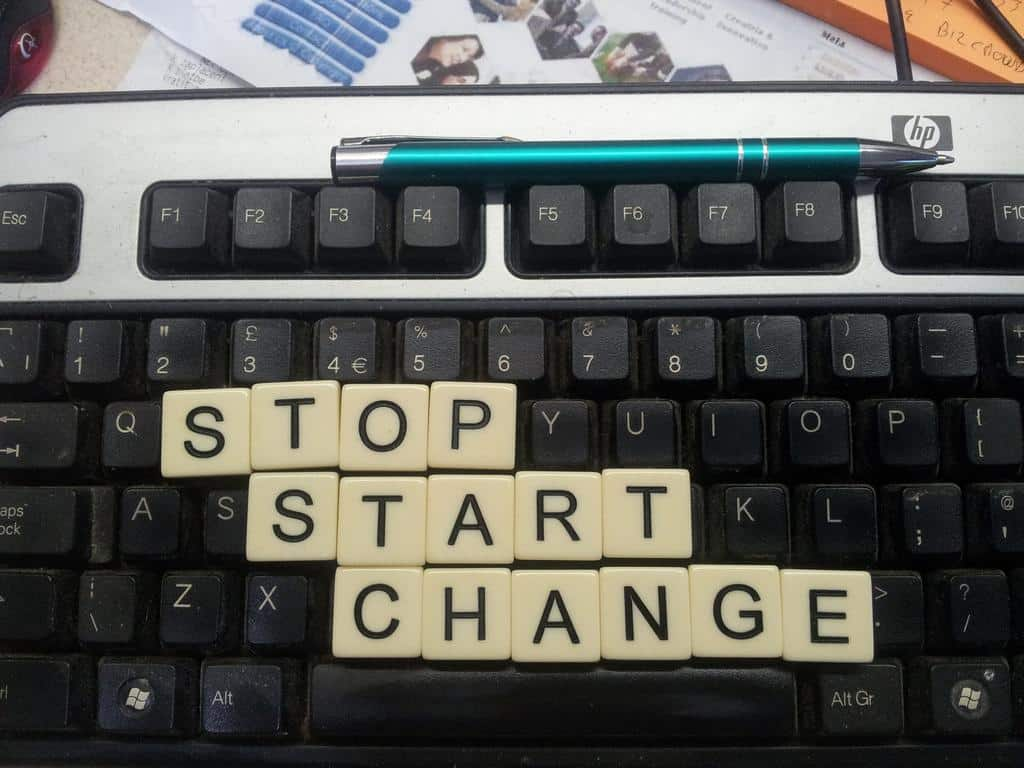 Stop Start Continue Change Management Model
