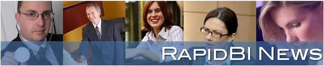 RapidBI banner graphic for newsletter page