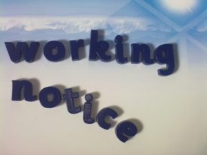 Working during notice period