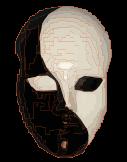 Yin Yang 2 faces mask