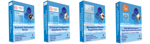 Diagnostic tools, employee surveys, PowerPoint and training activity packs