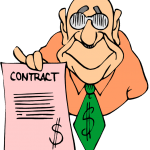 career contract future cartoon