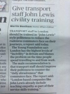 Why training does not work newspaper article john lewis london transport