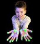 Showing the effect of UV materis to demonstrate effective handwashing
