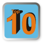 Top ten badge