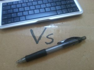 Keyboard vs pen
