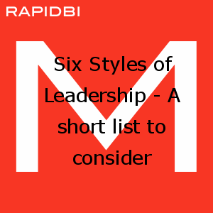 Six Styles of Leadership - A short list to consider