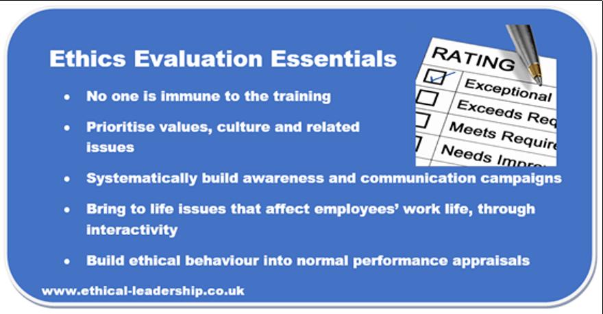 Ethics evaluation training