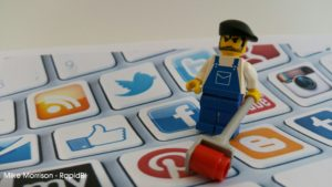 cover social media with content