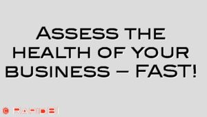 Assess the health of your business – FAST!