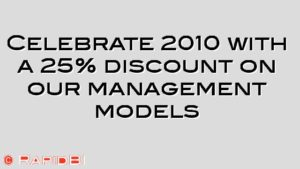 Celebrate 2010 with a 25% discount on our management models