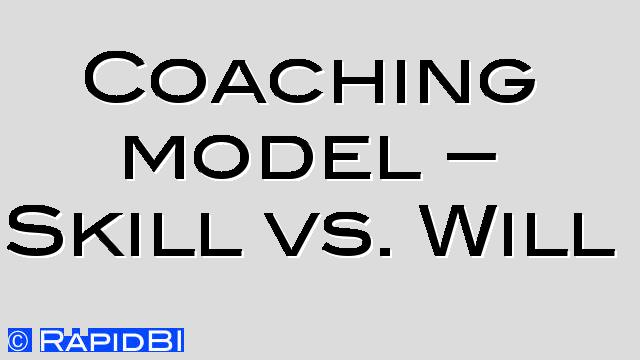 management coaching model skill vs will supervise coach
