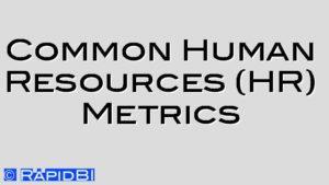 Common Human Resources (HR) Metrics