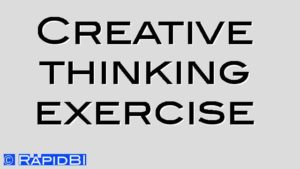 Creative thinking exercise