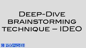 Deep Dive brainstorming technique – IDEO