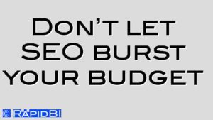 Don't let SEO burst your budget