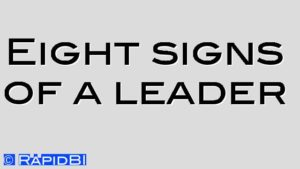Eight signs of a leader
