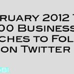 February 2012 Top 100 Business Coaches to Follow on Twitter