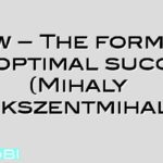 Flow – The formula for optimal success (Mihaly Csikszentmihalyi)