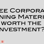 Free Corporate Training Material – worth the investment?