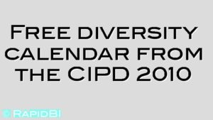 Free diversity calendar from the CIPD 2010