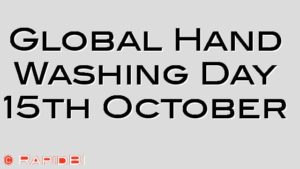Global Hand Washing Day 15th October