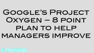 Google's Project Oxygen – 8 point plan to help managers improve