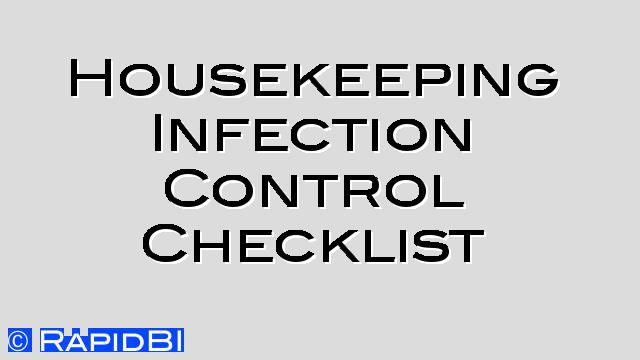 housekeeping checklists