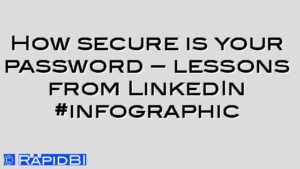 How secure is your password – lessons from LinkedIn #infographic