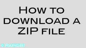 How to download a ZIP file