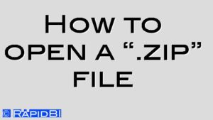 """How to open a """".zip"""" file"""