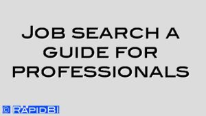 Job search a guide for professionals