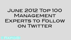 June 2012 Top 100 Management Experts to Follow on Twitter