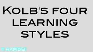 Kolb's four learning styles