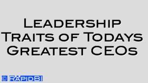 Leadership Traits of Todays Greatest CEOs