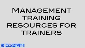 Management training resources for trainers