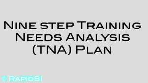 Nine step Training Needs Analysis (TNA) Plan