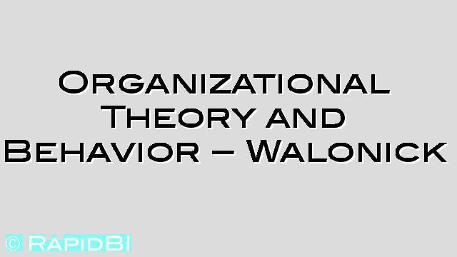 organizational behavior and theories Organizational behavior in historical perspective, part 1: the taming of emotions, willem mastenbroek, theory and practice, struggling with violence, even-temperedness, restraint and regulation, early capitalism, increasing discipline, waste.