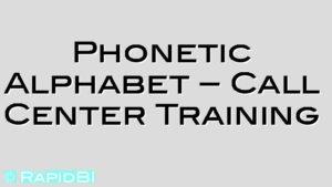 NATO Phonetic Alphabet – Call Center Training SIA security training