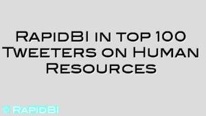 RapidBI in top 100 Tweeters on Human Resources