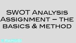 SWOT Analysis Assignment – the basics & method
