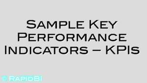 Sample Key Performance Indicators – KPIs