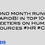 Second month running RapidBI in top 100 Tweeters on Human Resources #HR #CIPD