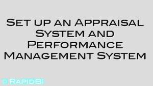 Set up an Appraisal System and Performance Management System