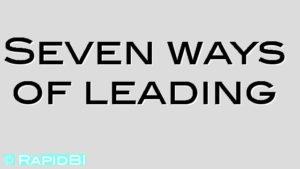 Seven ways of leading