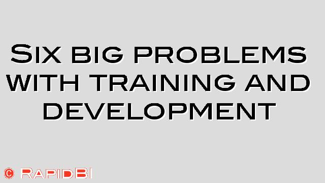problems of training in hrm