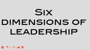 Six dimensions of leadership