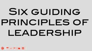 Six guiding principles of leadership