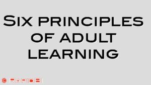 Six principles of adult learning
