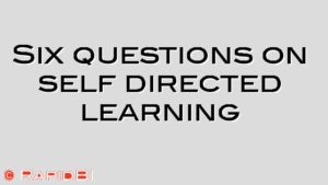 Six questions on self directed learning